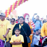 ronald crossing finish line at the 2018 walk for kids