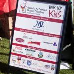 walk for kids sponsor sign