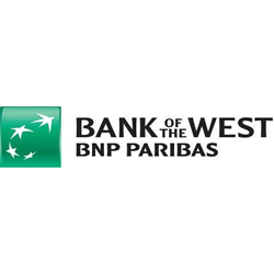 Bank of the West - BNP Paribas with logo (green square with 4 white stars)
