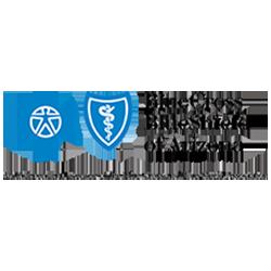 Blue Corss Blue Shield of Arizona wordmark with blue cross logo and blue shield logo