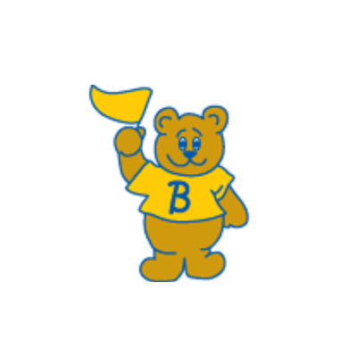 Brichta bear with yellow and green jersey logo