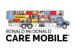 rmhc care mobile logo of graphic bus