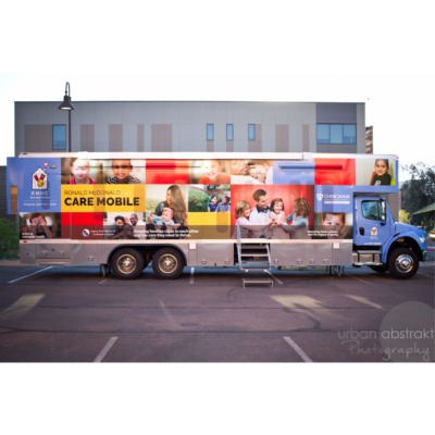 Ronald McDonald Care Mobile exterior view
