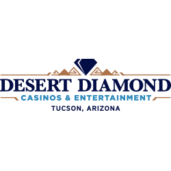 Desert Diamond Casino logo in purple, navy blue and teal