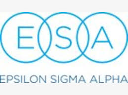 Epsilon Sigma Alpha logo in teal with the letters E,S,A in circles
