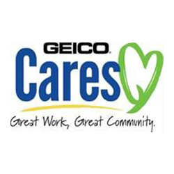 GEICO Tucson Offices logo with green heart and cares in blue