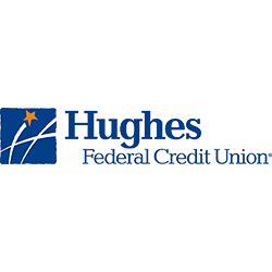 Hughes Federal Credit Union logo with blue writing