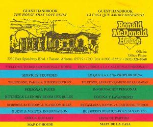 Ronald McDonald House Intake 90s