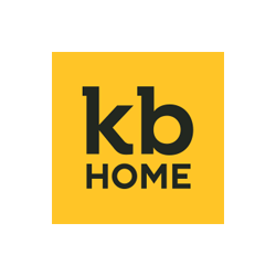 KB Home logo in yellow and black reading KB with home below