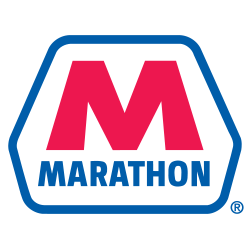 Marathon Petroleum Logo with the letter M above the word marathon in a geometric shape