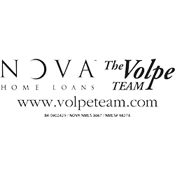 Nova the Volpe logo with black writing