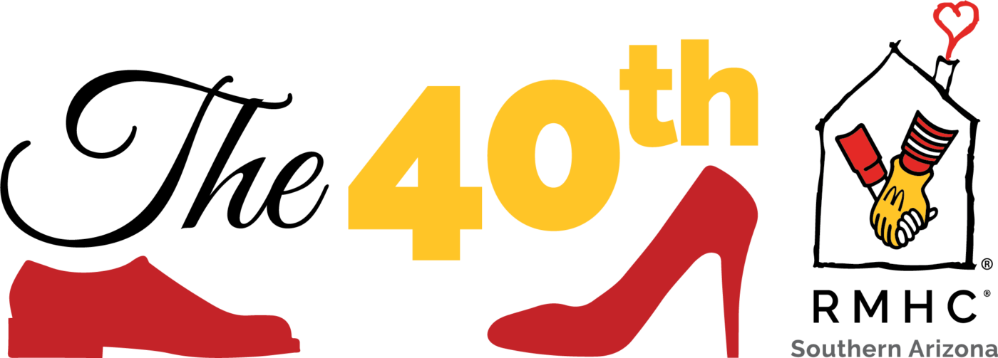 The 40th with red shoe silhouettes and the RMHC Southern Arizona logo
