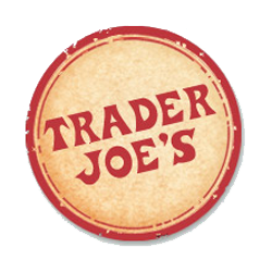 Trader Joes logo with red and yellow logo
