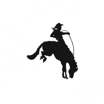 Wilson logo of a cowboy on a bucking horse