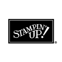 stampin-up logo with black background and white letters